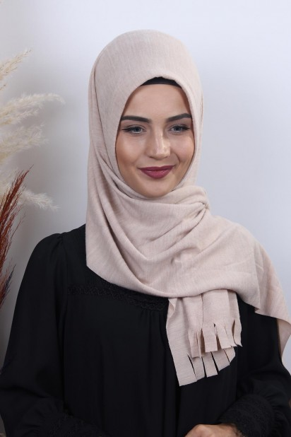 Triko Pratik Hijab Şal Bej