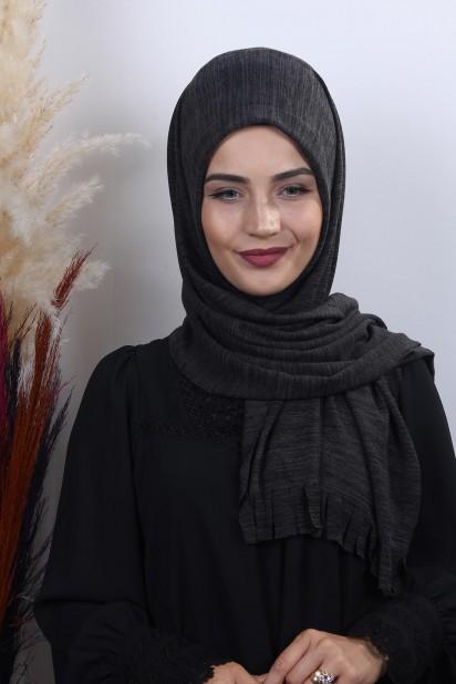 Triko Pratik Hijab Şal Füme