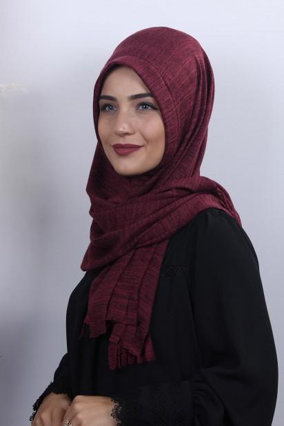 Triko Pratik Hijab Şal Bordo