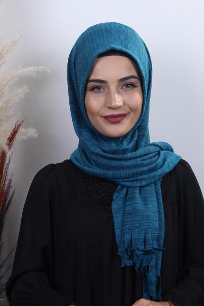 Triko Pratik Hijab Şal Petrol Mavisi