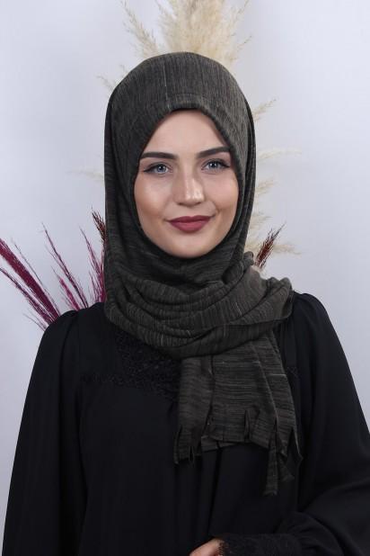 Triko Pratik Hijab Şal Haki Yeşili