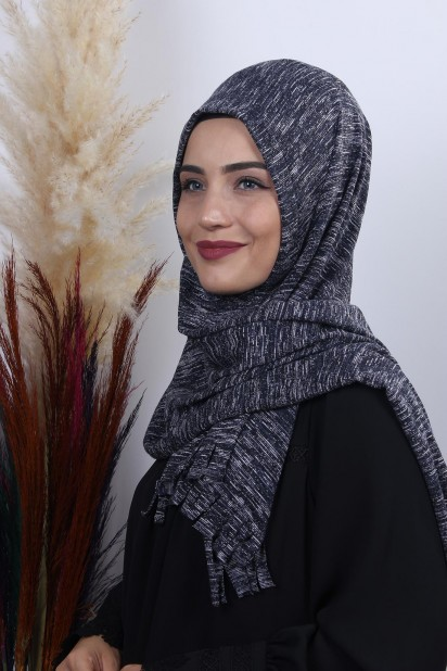Triko Pratik Hijab Şal Laci Melanj