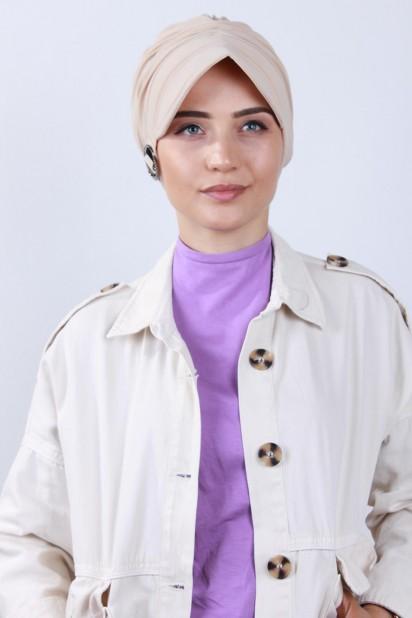 Tokalı Şapka Bone Bej