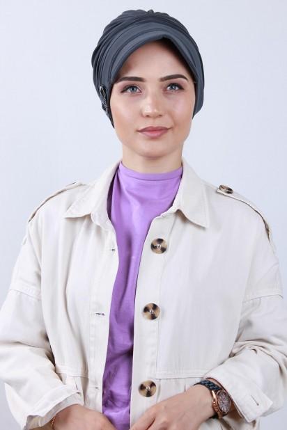 Tokalı Şapka Bone Füme