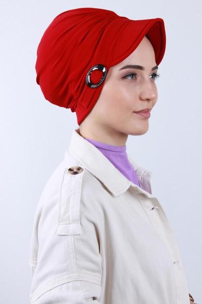 Tokalı Şapka Bone Kırmızı