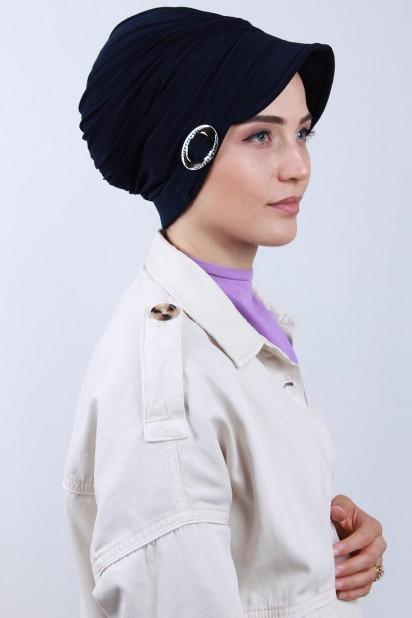 Tokalı Şapka Bone Lacivert
