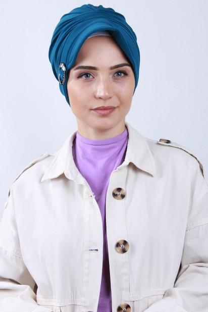 Tokalı Şapka Bone Petrol Mavisi