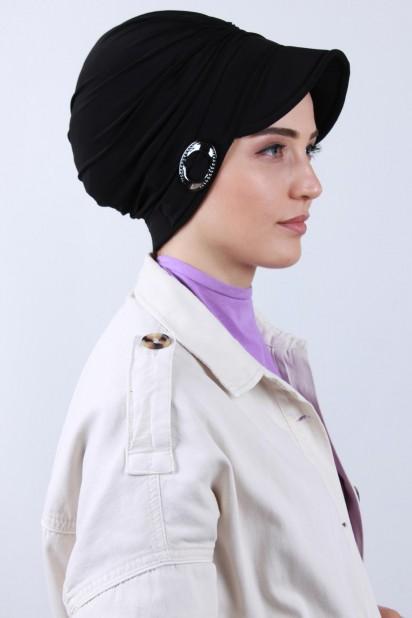 Tokalı Şapka Bone Siyah