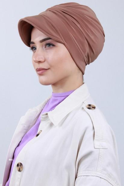 Tokalı Şapka Bone Taba