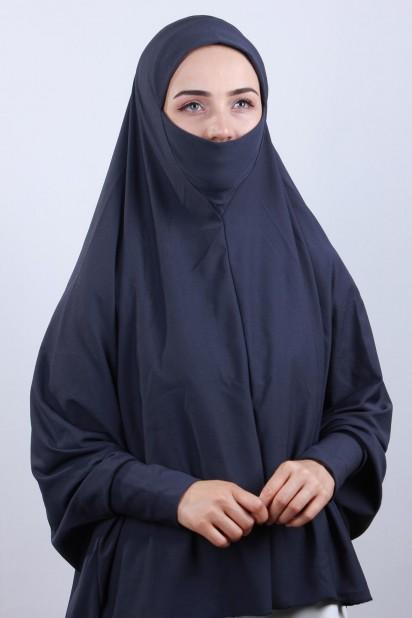 5XL Peçeli Hijab Füme