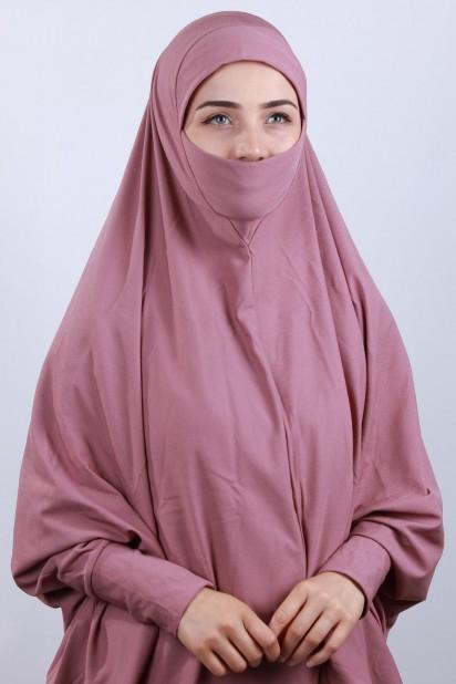 5XL Peçeli Hijab Gül Kurusu