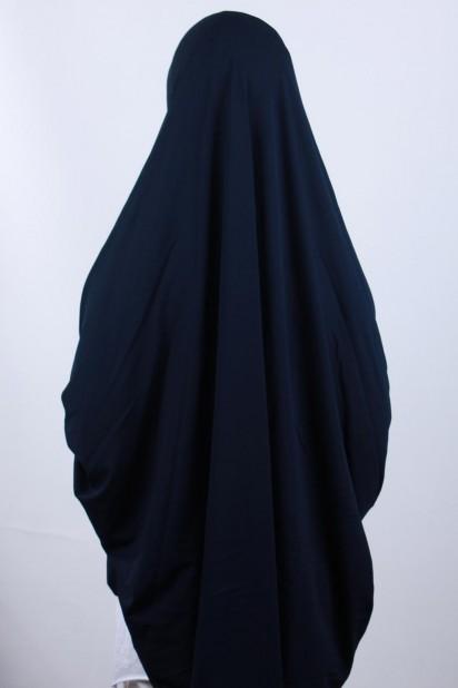 5XL Peçeli Hijab Lacivert