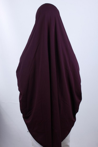 5XL Peçeli Hijab Mor