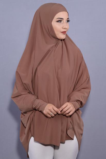 5XL Peçeli Hijab Taba