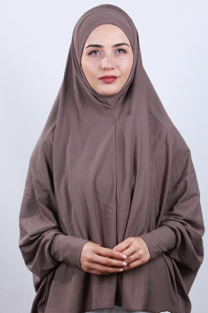 5XL Peçeli Hijab Vizon