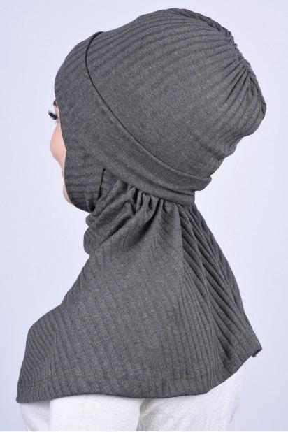 Bereli Triko Hijab Haki Yeşili