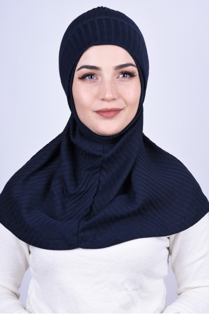 Bereli Triko Hijab Lacivert