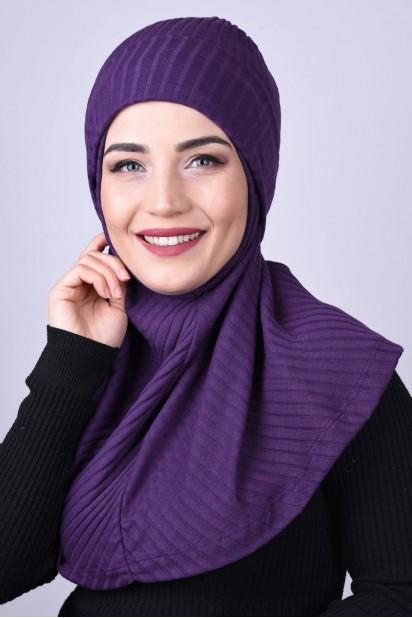 Bereli Triko Hijab Mor