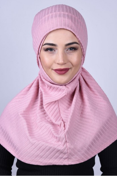 Bereli Triko Hijab Pudra Pembesi