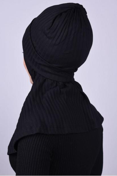 Bereli Triko Hijab Siyah