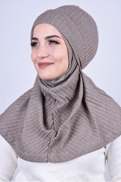 Bereli Triko Hijab Vizon