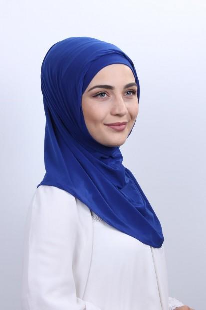 Boneli Namaz Örtüsü Saks Mavisi