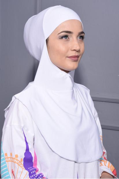 Boyunluk Hijab Beyaz