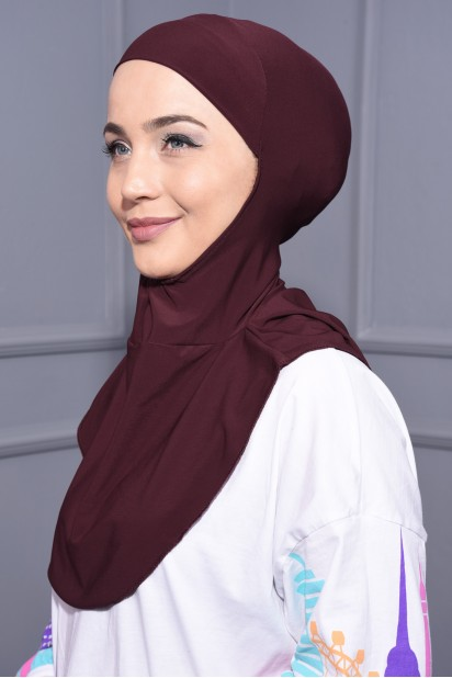 Boyunluk Hijab Bordo