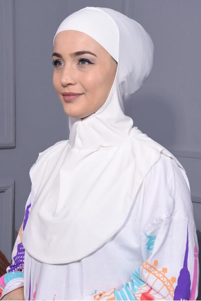 Boyunluk Hijab Ekru