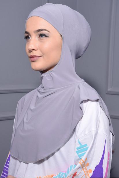 Boyunluk Hijab Gri