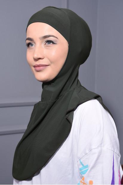 Boyunluk Hijab Haki Yeşili