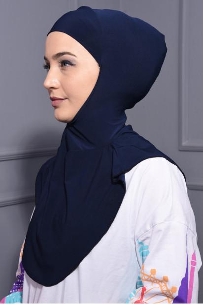 Boyunluk Hijab Lacivert