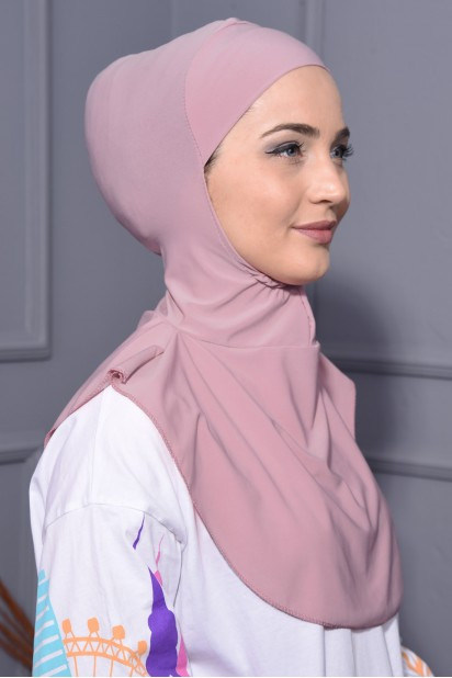 Boyunluk Hijab Pudra Pembesi