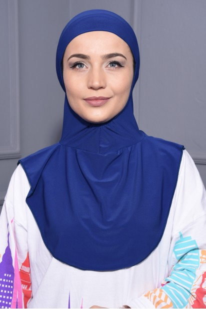 Boyunluk Hijab Saks Mavisi