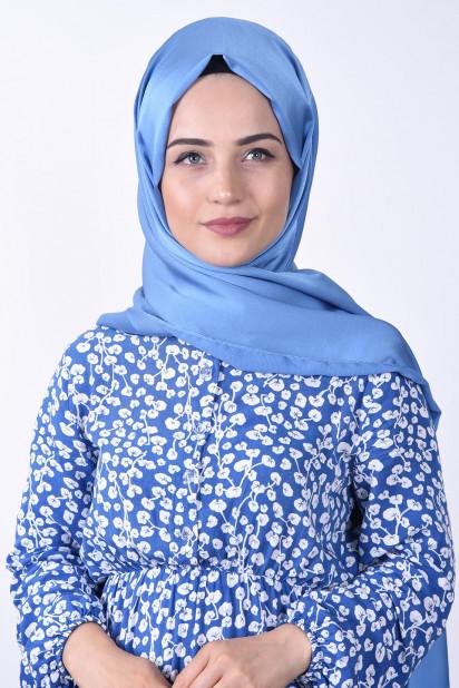 Dubai İpeği Waffle Şal Bebe Mavisi
