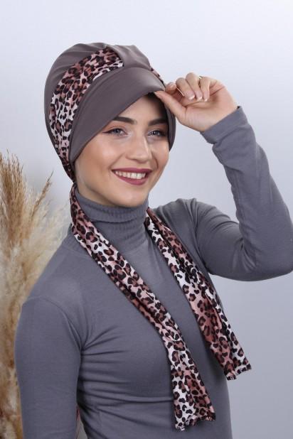 Fularlı Şapka Bone Vizon
