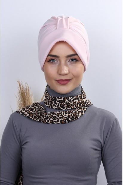 Fularlı Şapka Bone Somon