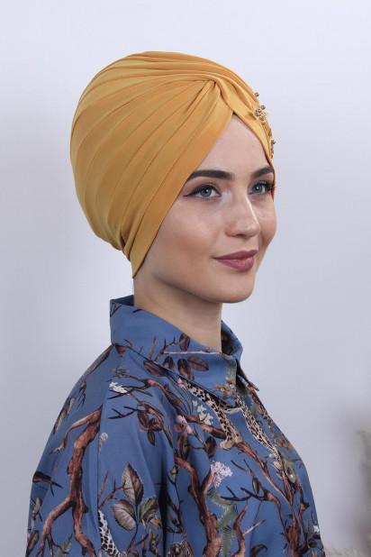 Güpürlü Vera Bone Hardal Sarısı