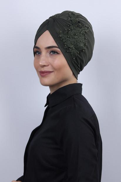 Güpürlü Vera Bone Haki Yeşili