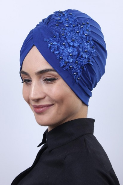 Güpürlü Vera Bone Saks Mavisi