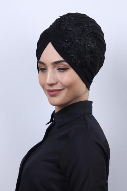 Güpürlü Vera Bone Siyah