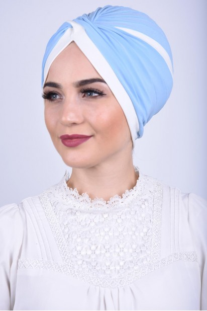 İki Renkli Vera Bone Bebe Mavisi