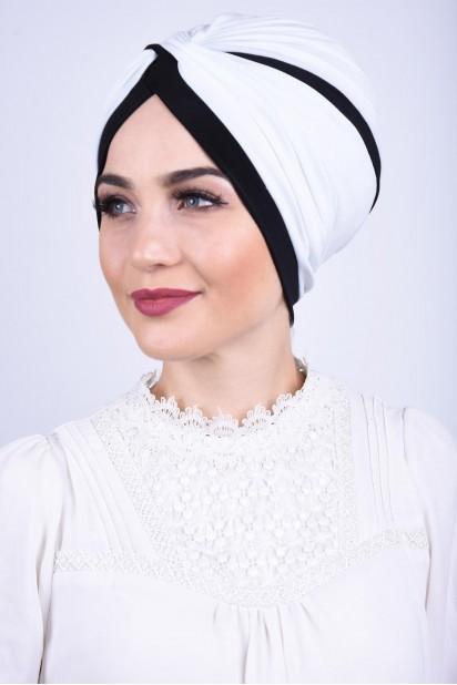 İki Renkli  Vera Bone Beyaz