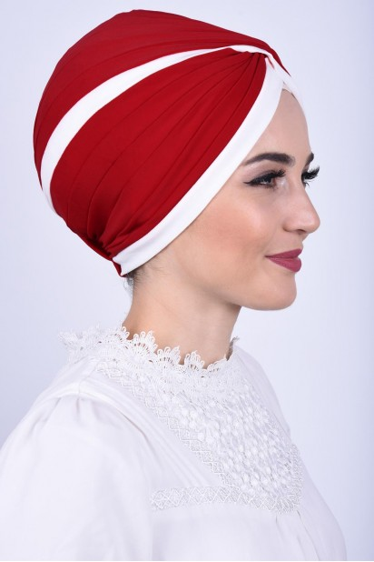 İki Renkli Vera Bone Kırmızı