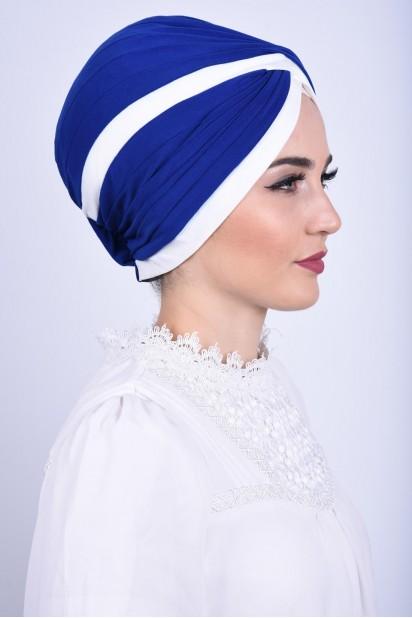 İki Renkli Vera Bone Saks Mavisi