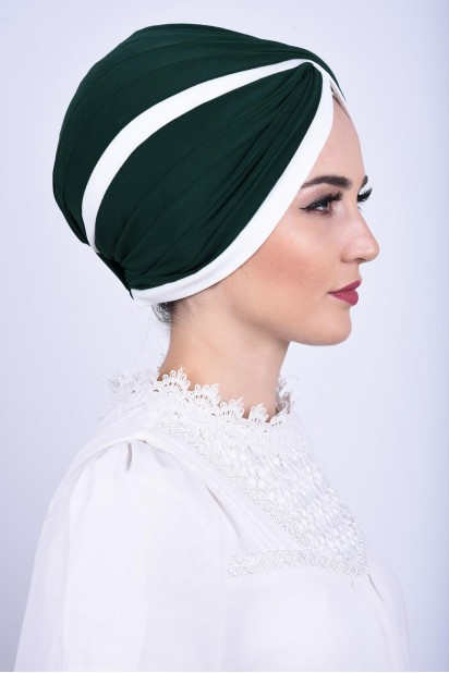 İki Renkli Vera Bone Zümrüt Yeşili