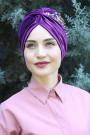 Kadife Payetli Vera Bone Mor