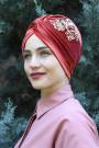 Kadife Payetli Vera Bone Kiremit