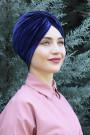 Kadife Payetli Vera Bone Lacivert
