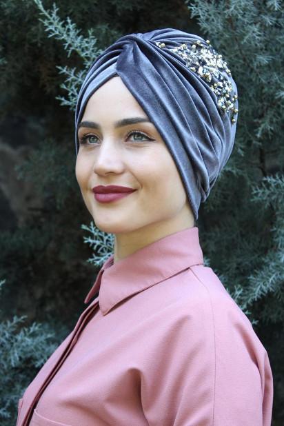 Kadife Payetli Vera Bone Antrasit